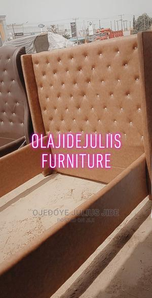 Bed 4half by 6 Leather   Furniture for sale in Lagos State, Ajah