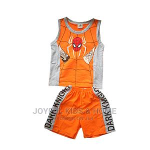 Two Psc Shorts And Top-blue,Orange And Multi | Children's Clothing for sale in Lagos State, Ojota