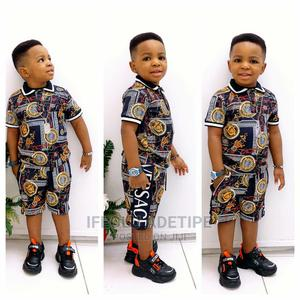 2-Piece Turkey Polo Shirt and Short for Boys   Children's Clothing for sale in Lagos State, Surulere