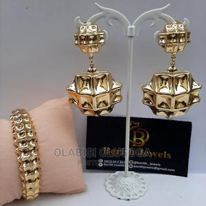 Gold Plated Earring and Bangle Set   Jewelry for sale in Lagos State, Shomolu