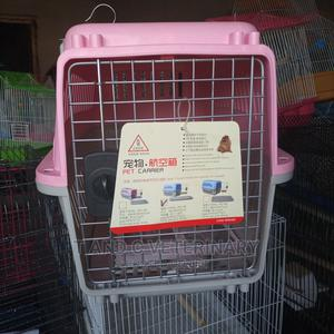 Plastic Pet Dog Airline Cage Carrier Medium   Pet's Accessories for sale in Lagos State, Agege