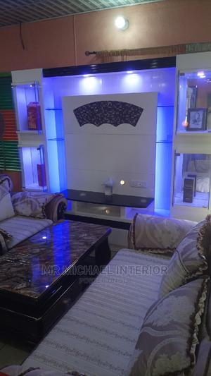 Imported Big Tv Shelf Design With Lights   Furniture for sale in Lagos State, Ojo