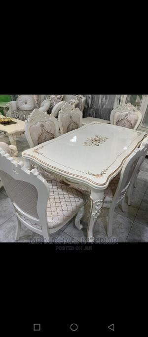 Six Seater Royal Wooden Dining Table With Six Solid Chairs   Furniture for sale in Lagos State, Ojo