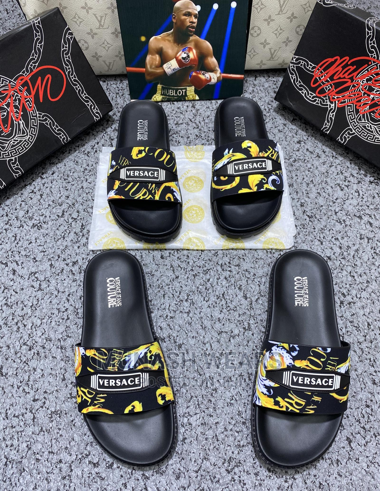 Versace Couture Slides | Shoes for sale in Lagos Island (Eko), Lagos State, Nigeria