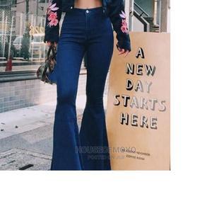 Ladies High-Waist Black Bootcut Jean Trouser | Clothing for sale in Lagos State, Ikorodu