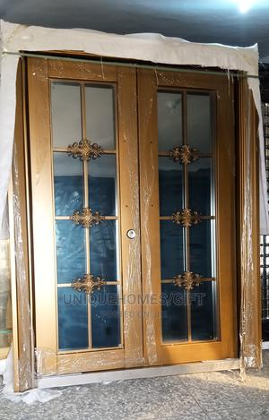 5ft by 7ft Gold Copper Swing Glass Door | Doors for sale in Lagos State, Orile