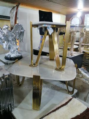 Quality Portable Marble Center Table With Two Side Stool | Furniture for sale in Lagos State, Magodo
