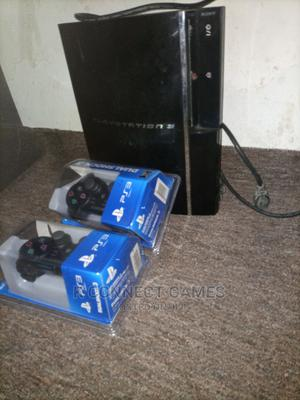London Used Fat Ps3 Console With Original Pad and Games Insi   Video Game Consoles for sale in Lagos State, Surulere
