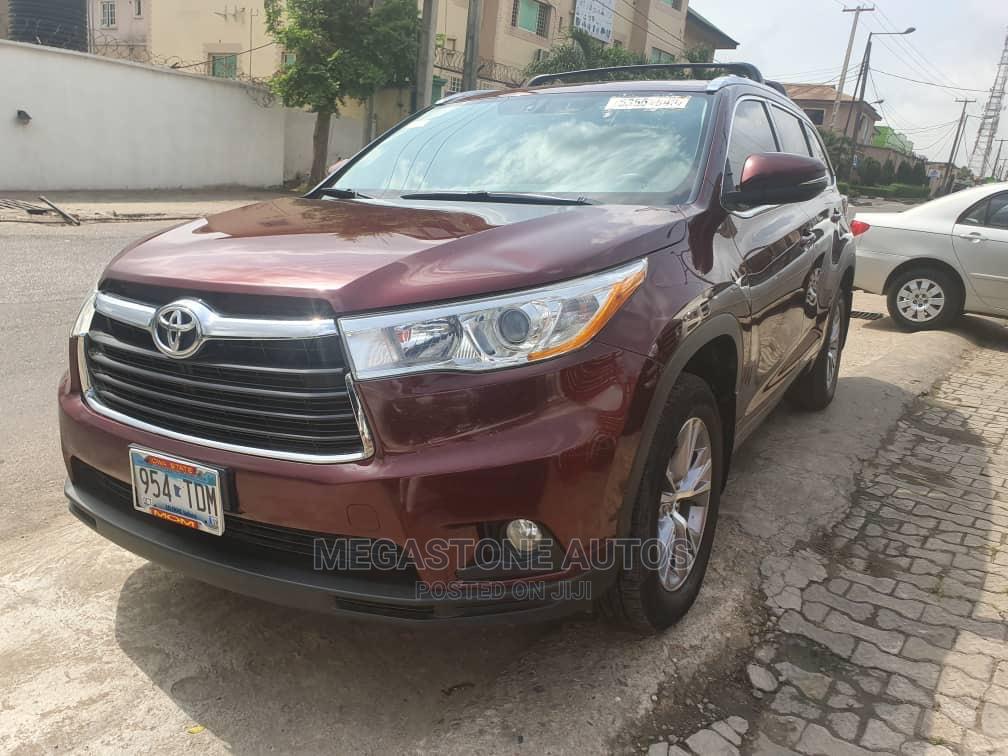 Toyota Highlander 2014 Red