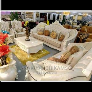 Luxirious White Sofa Chair With Center Table   Furniture for sale in Lagos State, Ojo