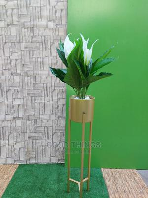 Gold Planter With Artificial Plant   Garden for sale in Lagos State, Surulere