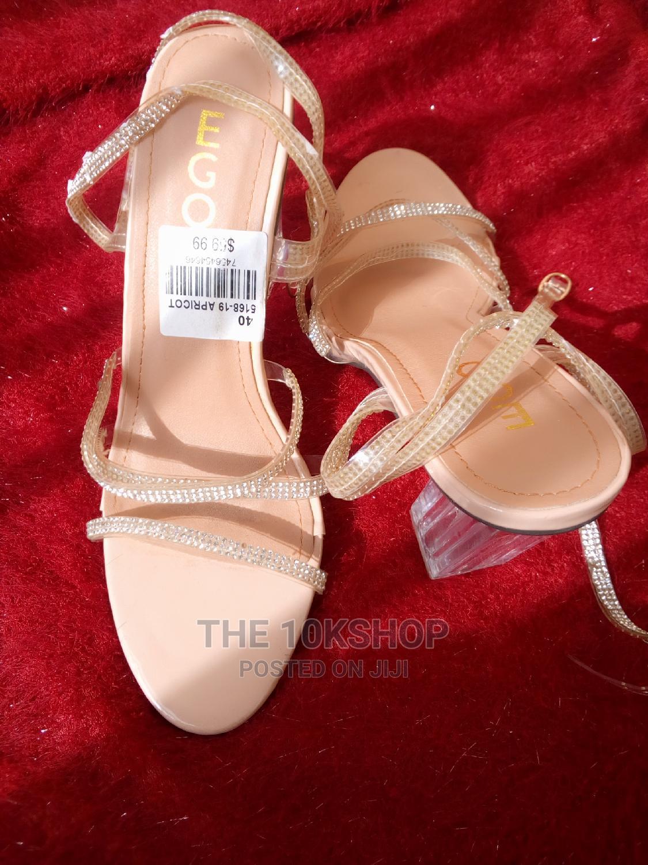 Nude Glass Heel | Shoes for sale in Ikotun/Igando, Lagos State, Nigeria