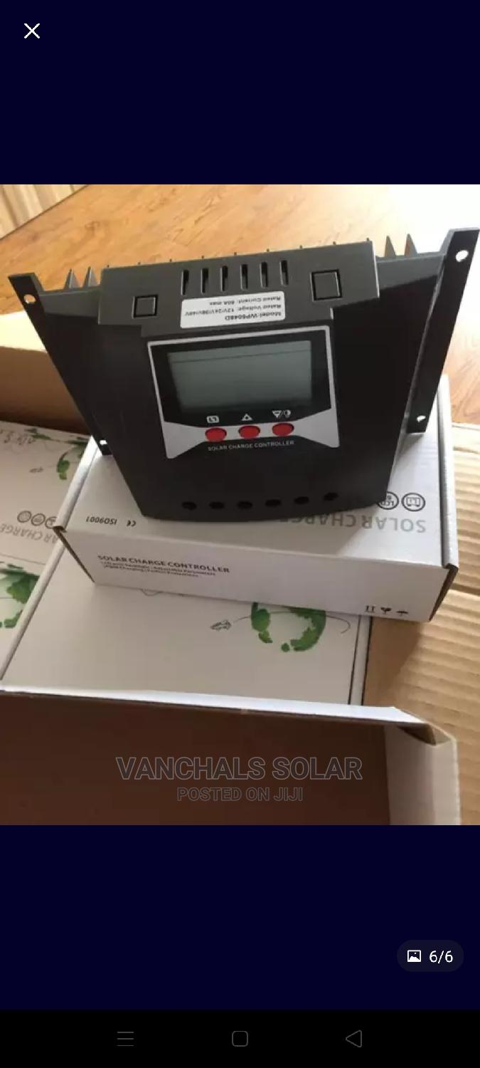 60a 12/24/36/48v PWM Solar Charge Controller   Solar Energy for sale in Alimosho, Lagos State, Nigeria