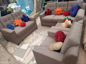 7 Seater Sofa With Colourful Throw Pillows | Furniture for sale in Lagos State, Lekki