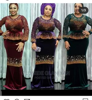 Luxurious Velvet Long Dress | Clothing for sale in Abuja (FCT) State, Lugbe District
