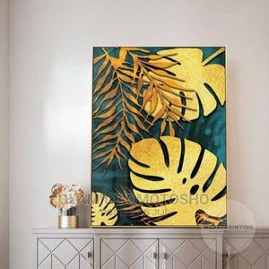 Gold Leaf 1pcs Canvas Wall Art   Home Accessories for sale in Lagos State, Abule Egba