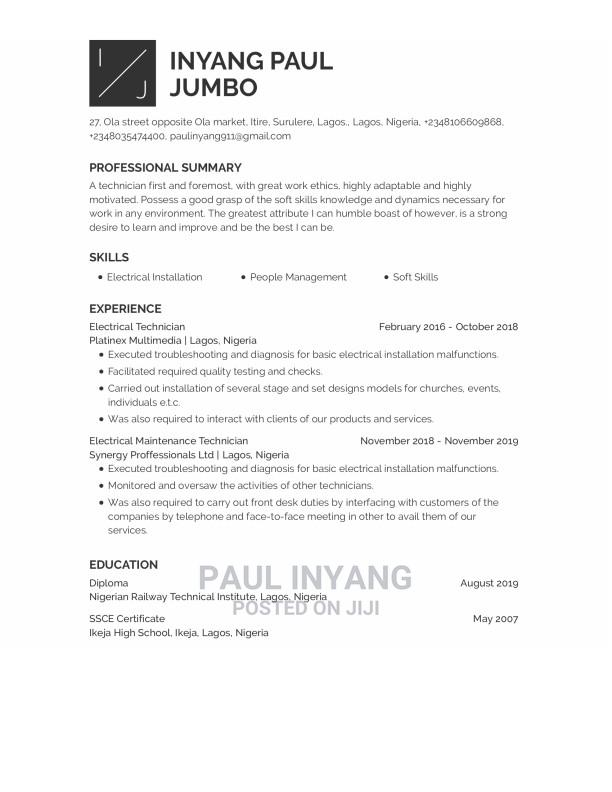 Computing It Cv | Computing & IT CVs for sale in Surulere, Lagos State, Nigeria