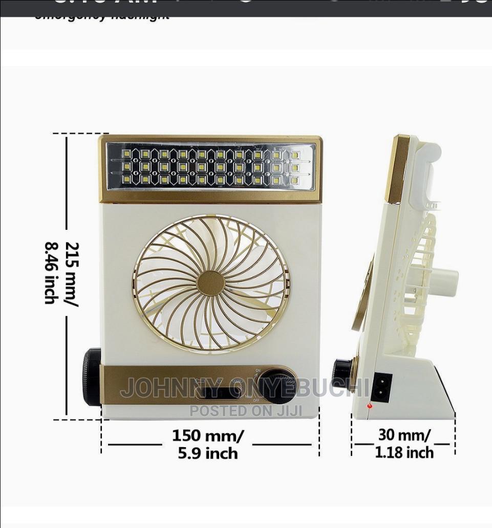 Solar Mini Light Fan Rechargeable