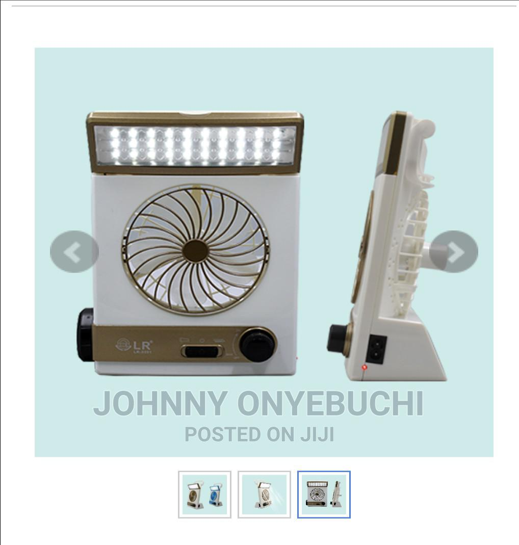 Solar Mini Light Fan Rechargeable   Home Appliances for sale in Apapa, Lagos State, Nigeria