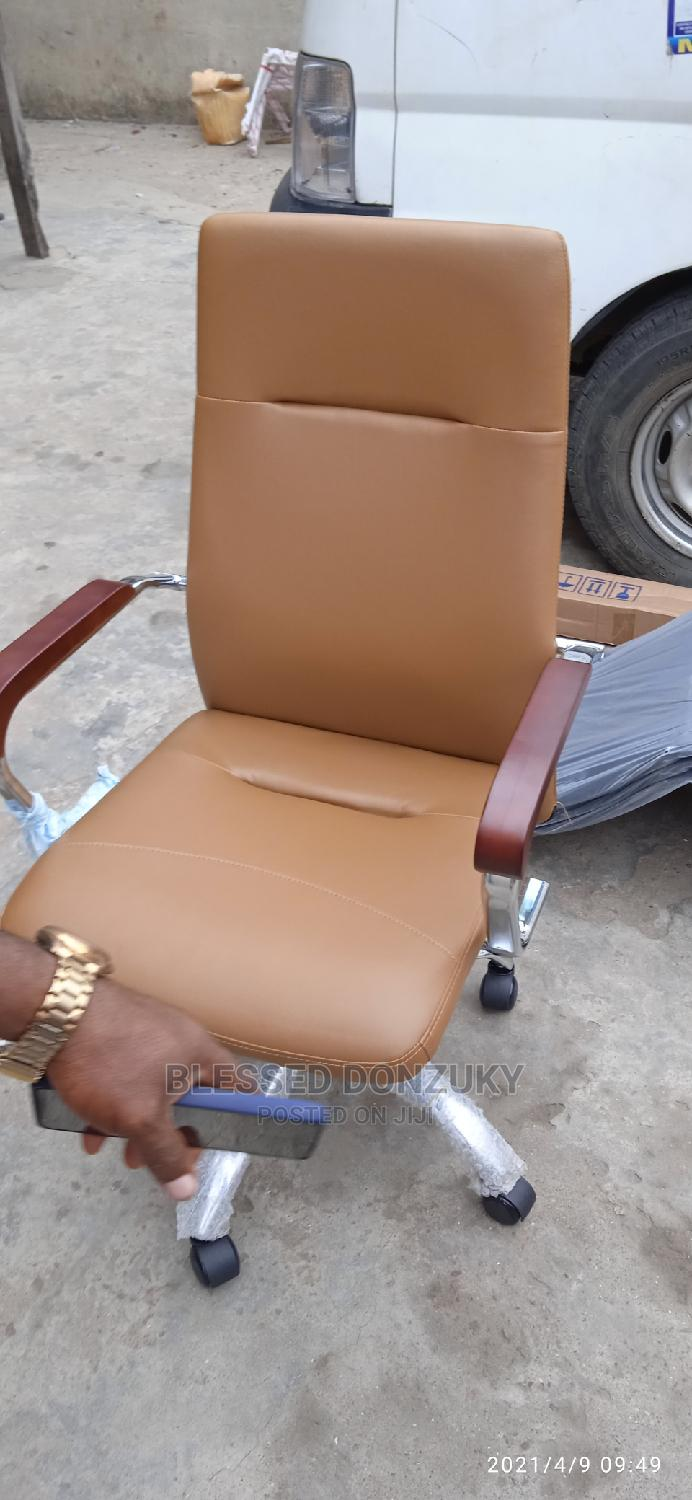 Brown Leather Office Chair | Furniture for sale in Lekki, Lagos State, Nigeria