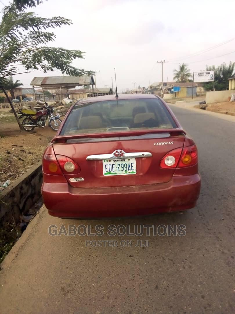 Toyota Corolla 2004 1.4 D Automatic Red   Cars for sale in Osogbo, Osun State, Nigeria