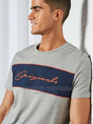 Jack and Jones*Light Grey Melange T-Shirt*Eu M   Clothing for sale in Lagos State, Ikeja
