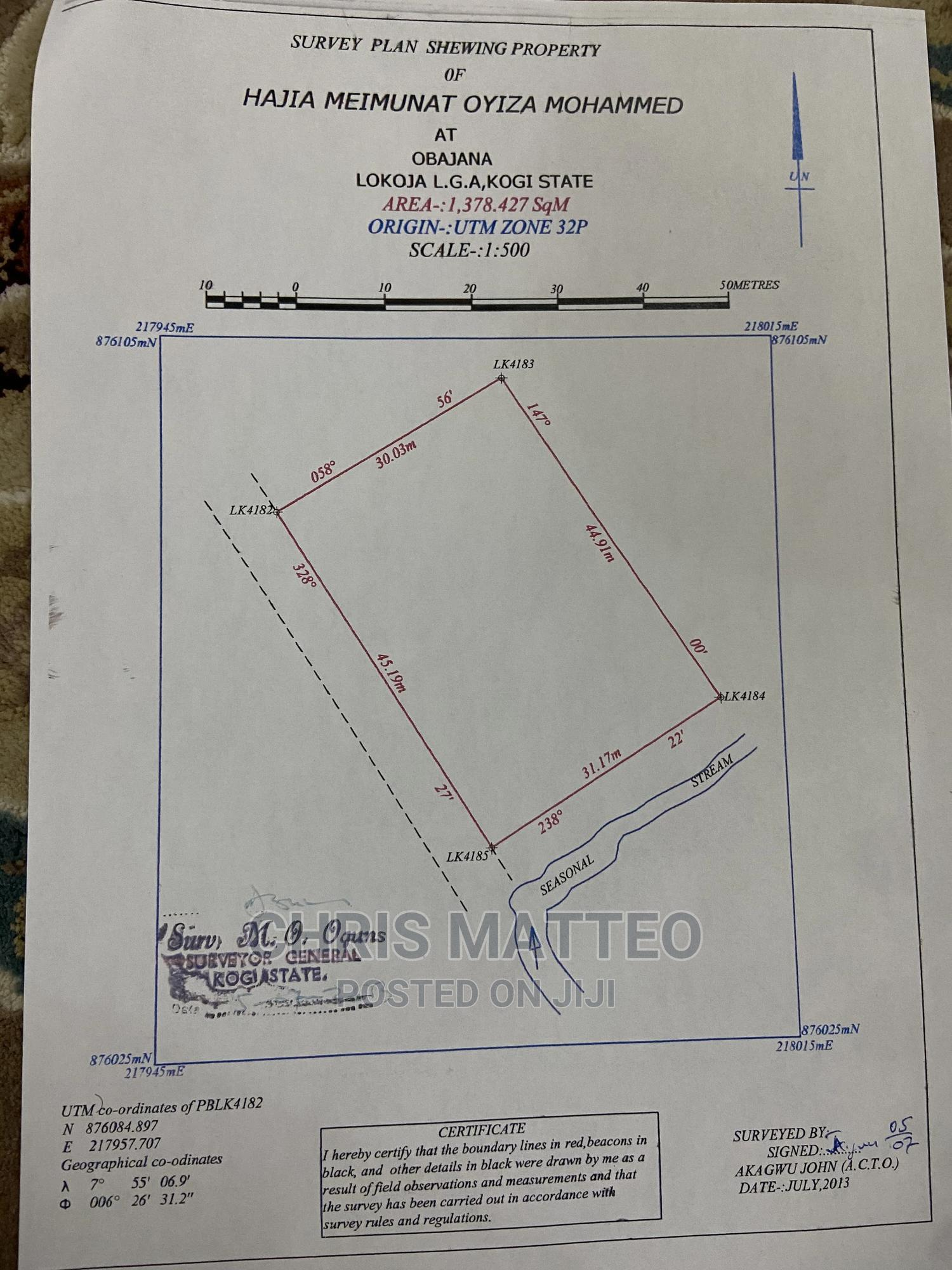 Archive: 2 Plots of Land at Obajana in a Strategic Location
