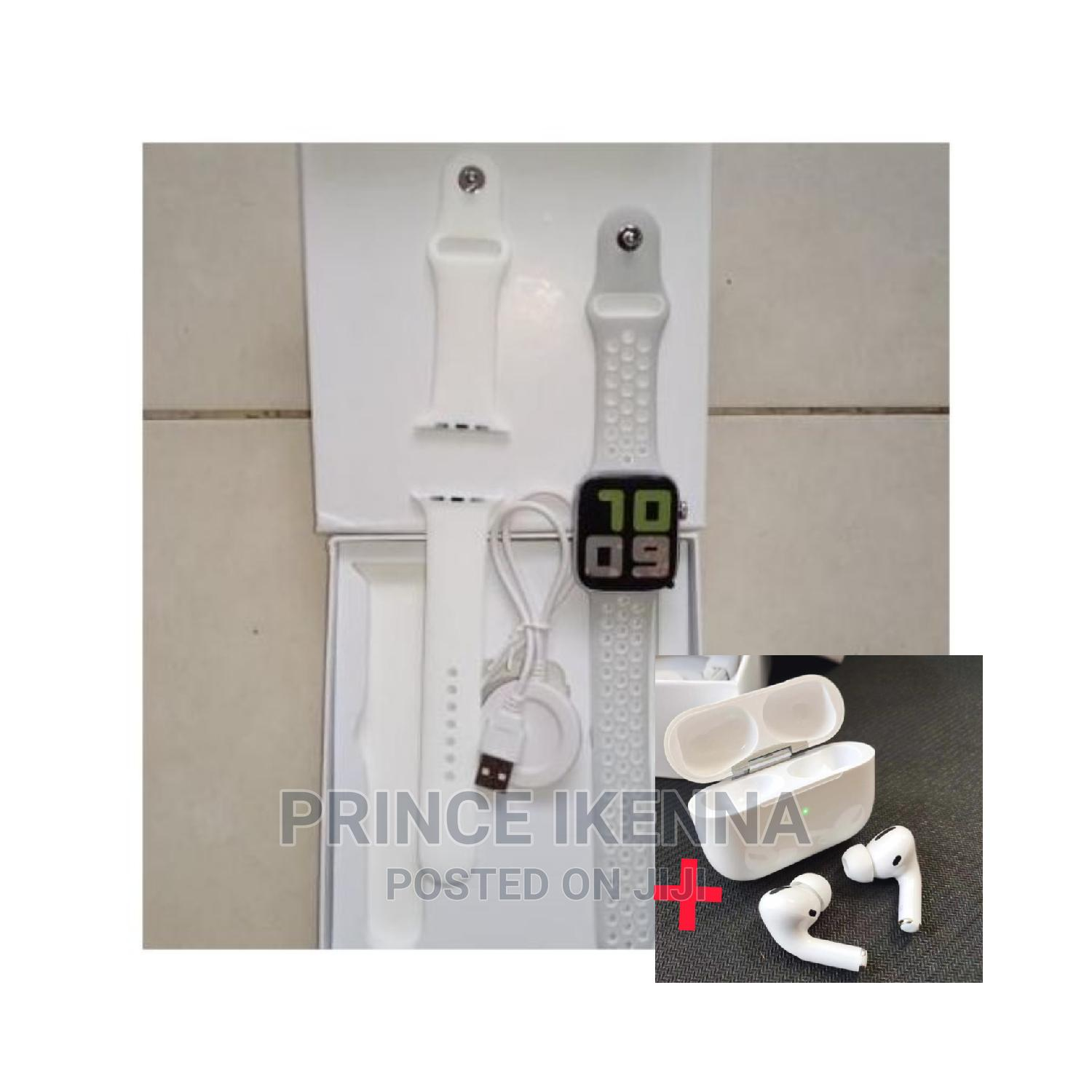 T55 Smartwatch With Free Apple Airpod Gift | Smart Watches & Trackers for sale in Ikeja, Lagos State, Nigeria