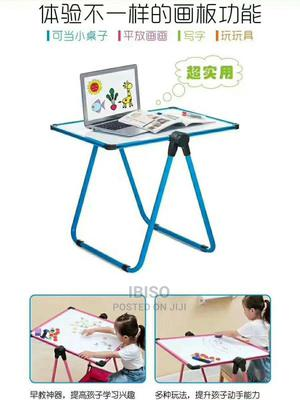 Children White Board Table and Board | Children's Furniture for sale in Rivers State, Port-Harcourt
