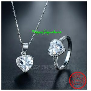 Sterling Silver Engagement Ring And Necklace   Wedding Wear & Accessories for sale in Oyo State, Ibadan