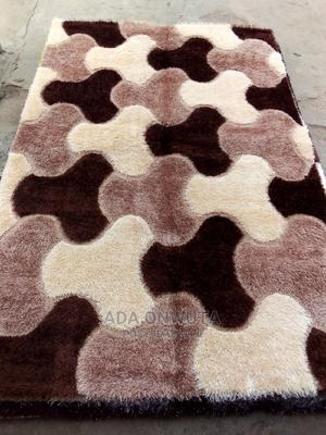 Floppy Brown Center Rug Made in Turkey From Dubai 7ft Long .   Home Accessories for sale in Kwara State, Offa