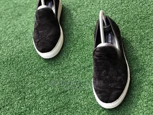 Black Velvet Sneakers With White Sole   Shoes for sale in Lagos State, Mushin
