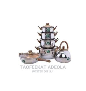Set of 6 Cooking Pot, Fry Pan and Kettle. | Kitchen & Dining for sale in Lagos State, Lagos Island (Eko)