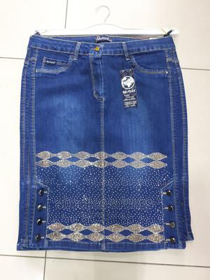 New Female Turkey Quality Stone Black and Blue Jeans Skirts | Clothing for sale in Lagos State, Maryland