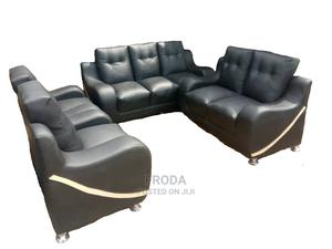 Set of 7 Seaters Sofa Chairs. Living Room Leather Couch   Furniture for sale in Lagos State, Ajah