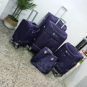 Best Trolley Suitecase ( 5in1+ a Hand Bag ) Purple Colour | Bags for sale in Lagos State, Ikeja