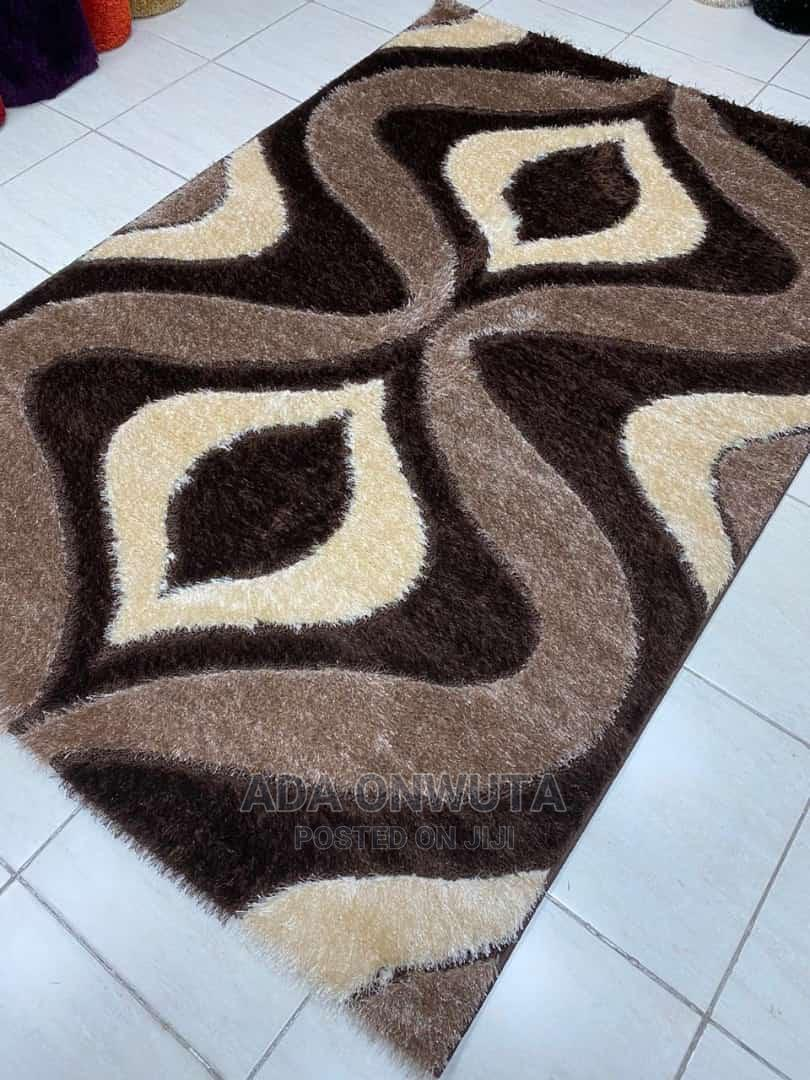 Archive: Chocolate Brown Turkey Shaggy Center Rug, Expo Product.