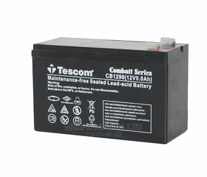 12v9ah Tescom Deep Cycle Battery   Solar Energy for sale in Lagos State, Apapa