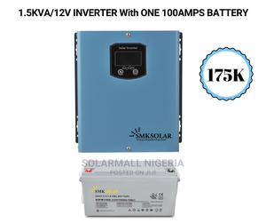 Premium 1.5kva/12v Inverter With One 100ah Battery | Solar Energy for sale in Lagos State, Ojo