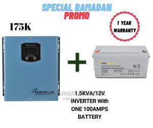 1.5kva/12v Inverter With One 100ah Battery (Lightup Ramadan) | Solar Energy for sale in Lagos State, Lekki