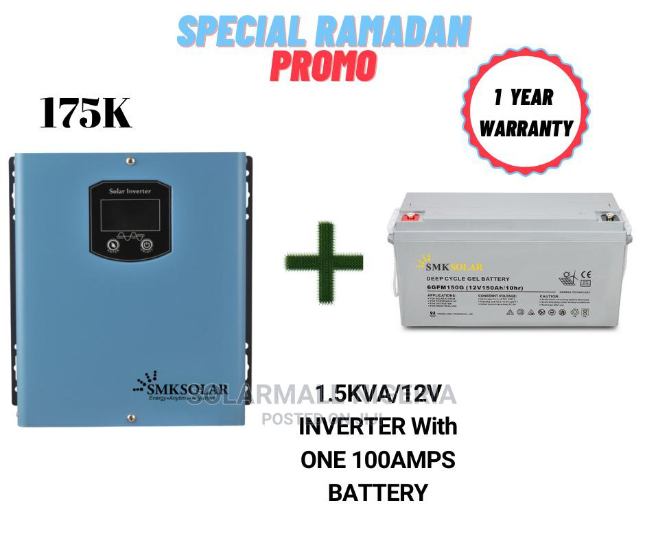 1.5kva/12v Inverter With One 100ah Battery (Lightup Ramadan)