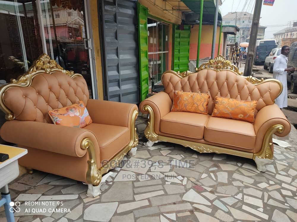 Set of Pure Italian Leather Sofa
