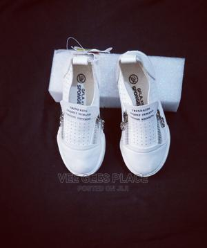 White Shoe With Side Zip | Children's Shoes for sale in Lagos State, Ojodu