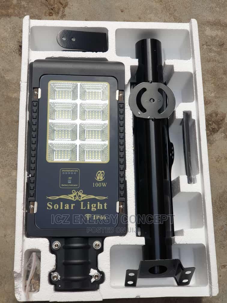 100w Solar Street Light With Pole