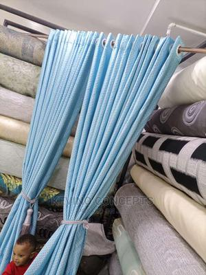 Plain Sky Blue Blackout Curtains | Home Accessories for sale in Lagos State, Surulere