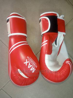 Max Strength Hard Touch Original Leather Boxing Gloves | Sports Equipment for sale in Lagos State, Surulere