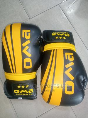 Oma Martial Arts Original Leather Flex Boxing Gloves | Sports Equipment for sale in Lagos State, Surulere