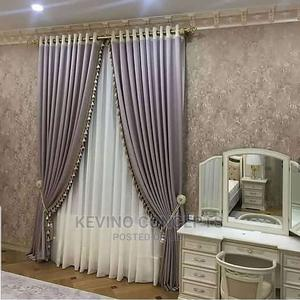 Plain Mettalic Brown Blackout Curtains | Home Accessories for sale in Lagos State, Surulere