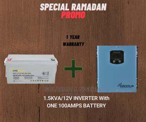 1.5kva/12v Inverter With One 100ah Battery. | Solar Energy for sale in Kano State, Kano Municipal