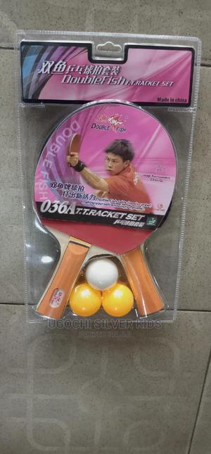 Double Fish Table Tennis Bat 2in1 With Ball | Sports Equipment for sale in Lagos State, Surulere
